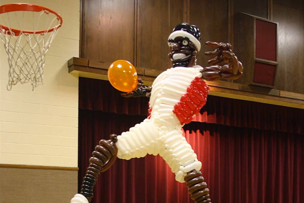 Life Size Balloon Tribute For LeBron James | MACHO CLOTHING CO